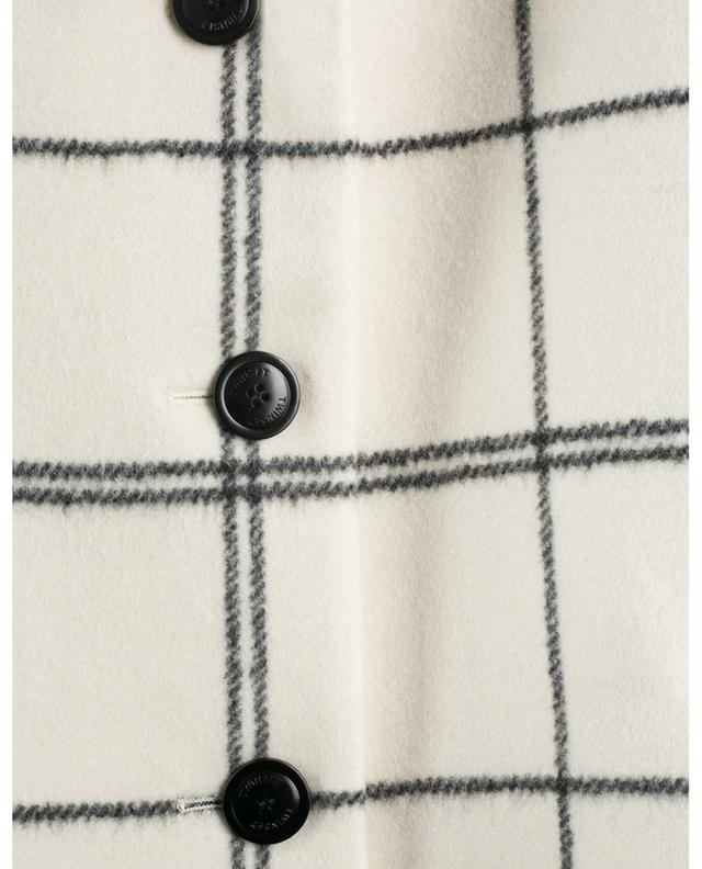Weiter Karo-Mantel aus dickem Wollmix TWINSET