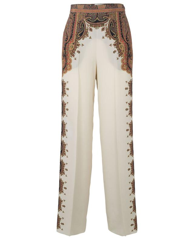 Pantalon en soie imprimé paisley ETRO