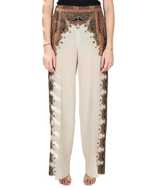 Silk trousers with paisley print ETRO