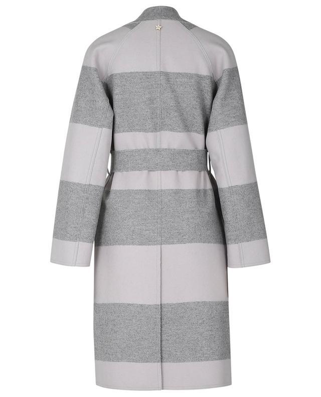 Manteau à boutonnière double réversible en laine vierge LORENA ANTONIAZZI