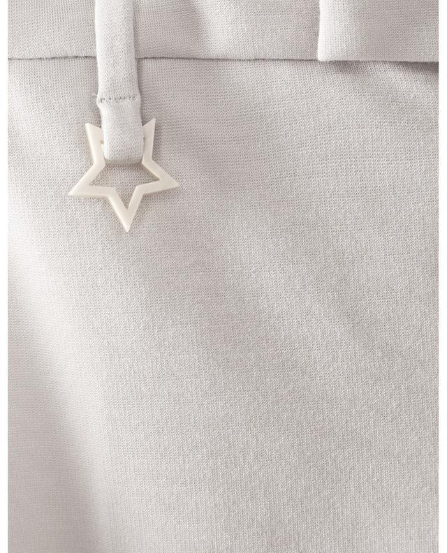 Pantalon droit en laine et coton mélangés LORENA ANTONIAZZI