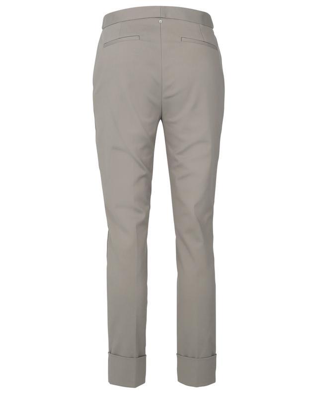 Pantalon droit en coton stretch à revers LORENA ANTONIAZZI