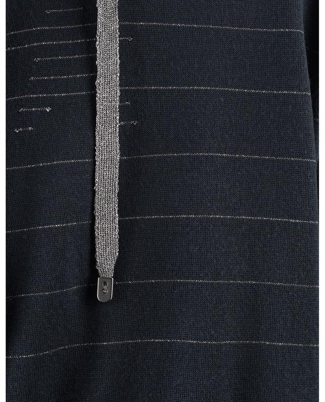 Sweat-shirt rayé à capuche en laine vierge mélangée LORENA ANTONIAZZI