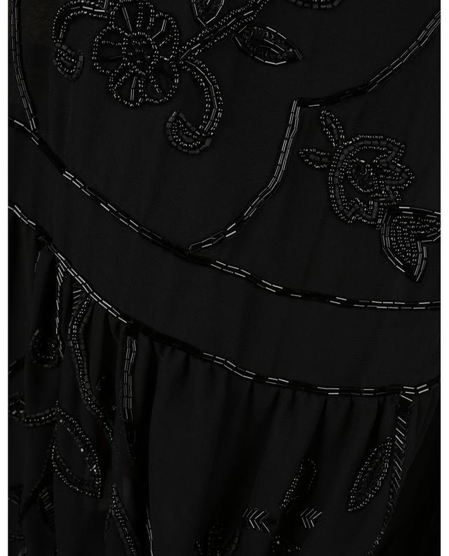 Robe courte en mousseline brodée de fleurs TWINSET
