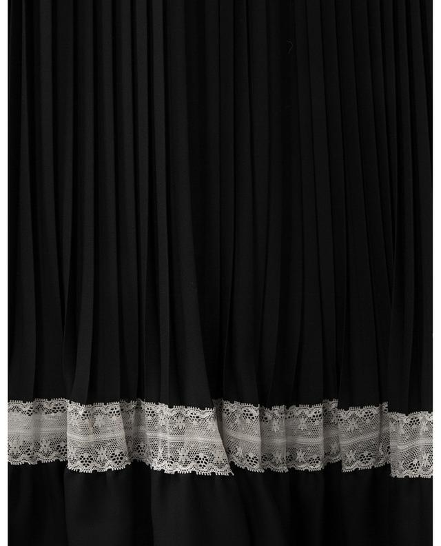 Pleated sleeveless dress with lace TWINSET