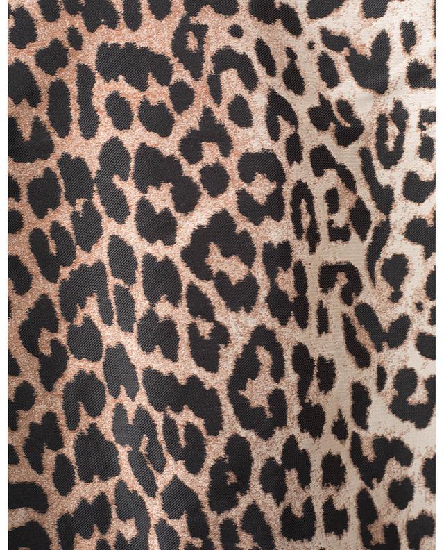 Minirobe à manches ballon en jacquard léopard GANNI