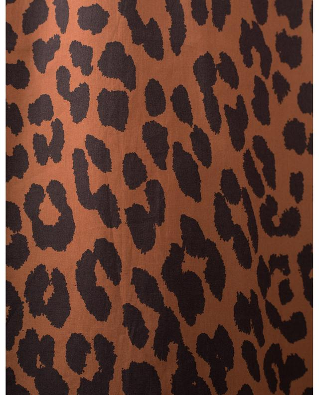 Blouse en popeline de coton imprimé léopard GANNI