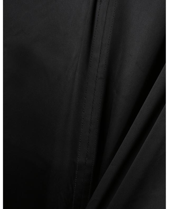 Robe trapèze midi en satin lourd à bretelles GANNI