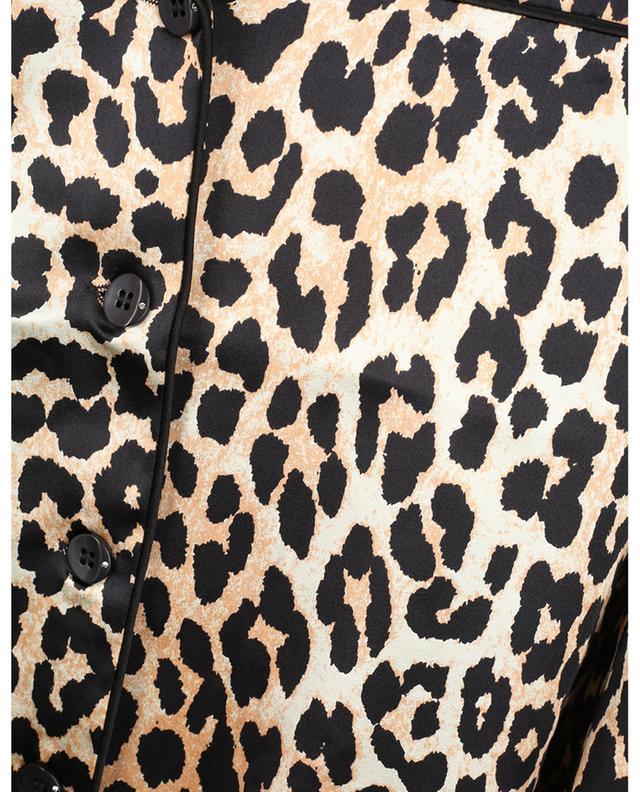Chemise esprit pyjama en soie imprimée léopard GANNI