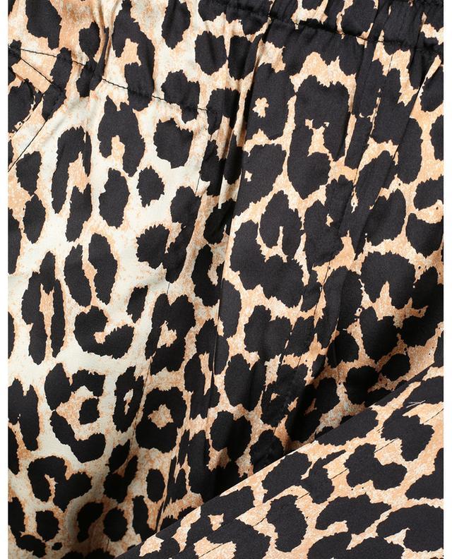 Pantalon esprit pyjama en soie imprimé léopard GANNI