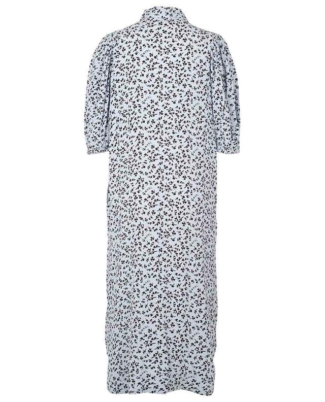 Robe chemise décontractée midi en crêpe imprimée GANNI