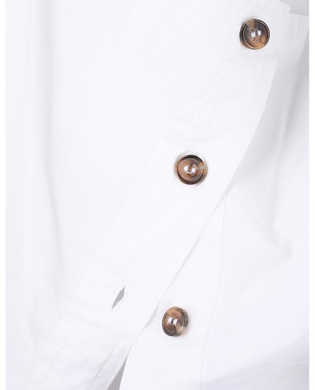 Blouse boutonnée en coton bio à manches ballon GANNI