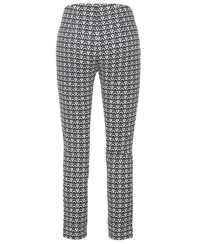 Sabrina graphic logo print slim fit trousers SEDUCTIVE