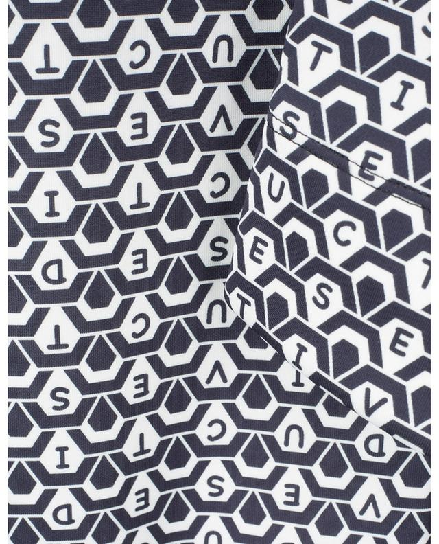 Pantalon slim graphique imprimé logo Sabrina SEDUCTIVE