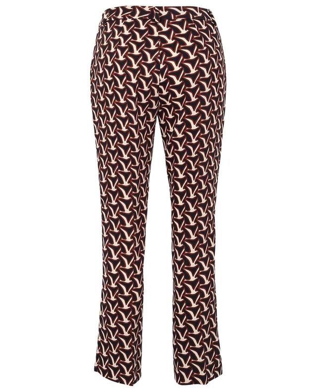 Annie cropped straight fit bird print trousers SEDUCTIVE