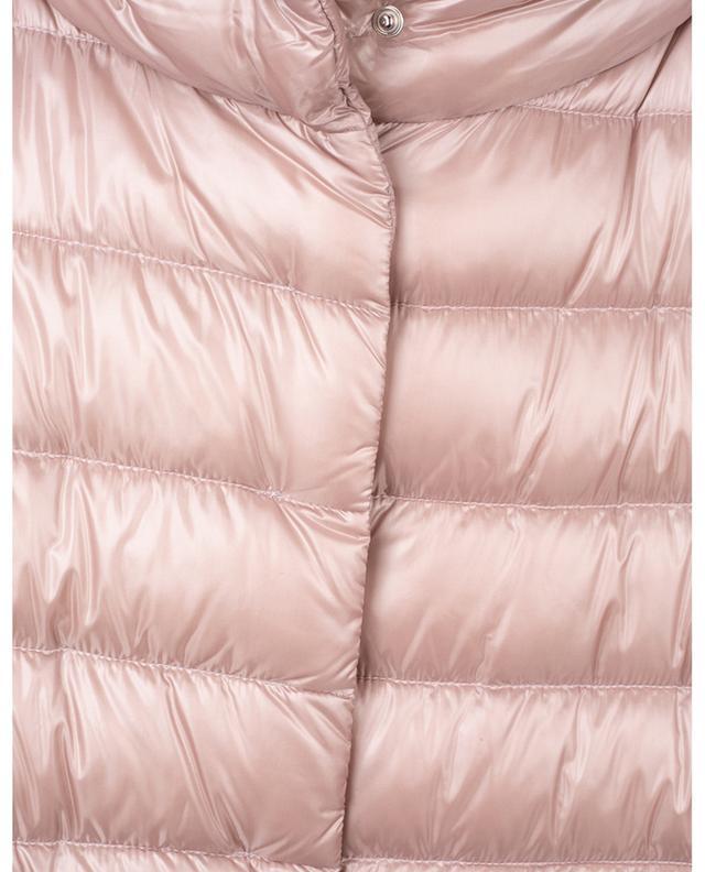 Doudoune trapèze en nylon rose insert velours HERNO