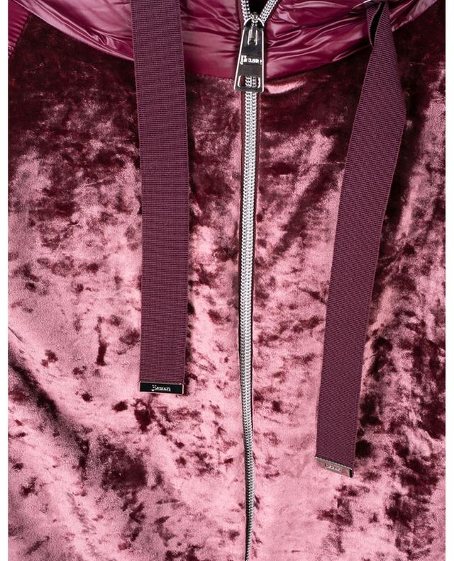 Doudoune en nylon matelassé et velours à capuche HERNO