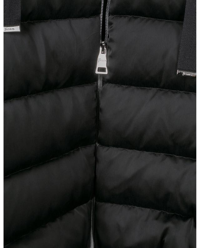 A-line down jacket in Cupro with cropped sleeves HERNO