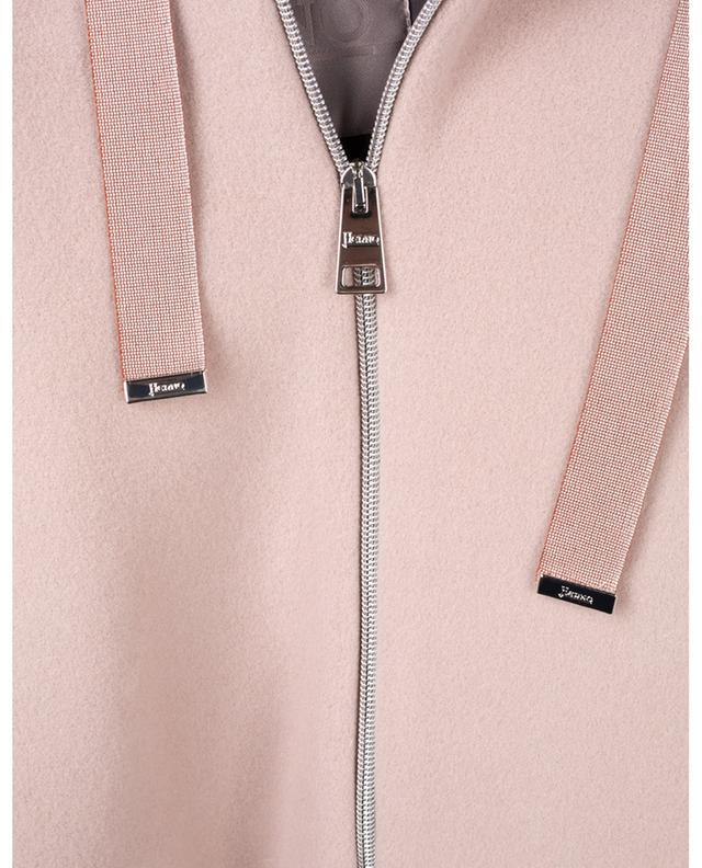 Manteau zippé à capuche en laine épaisse HERNO