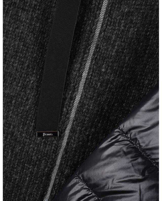 Veste matelassée bi-matière à col montant HERNO