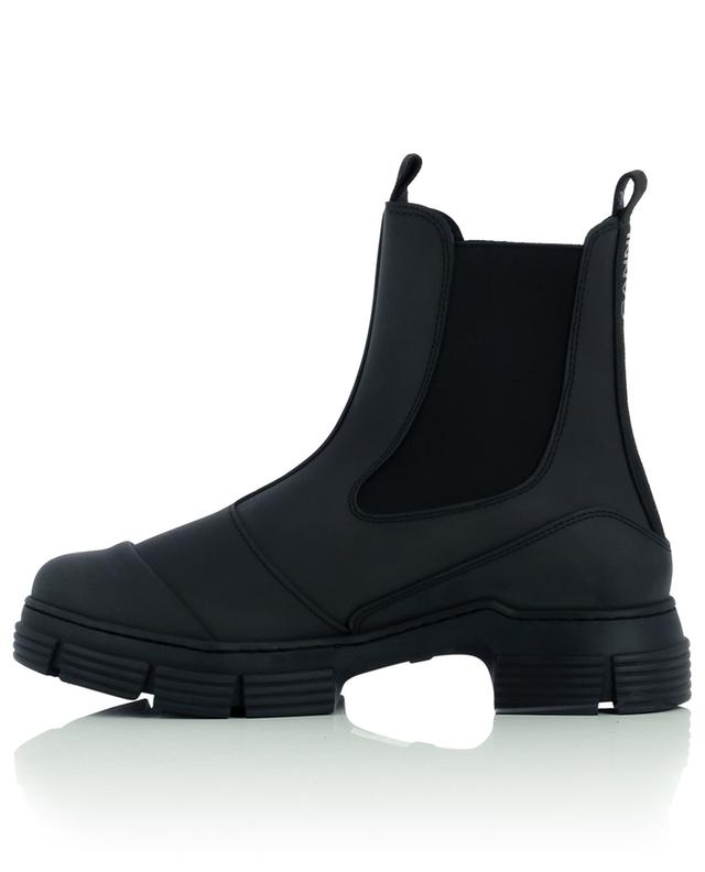 City recycled rubber rain booties GANNI