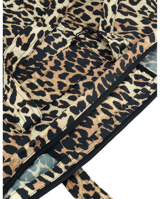 Sac cabas en nylon recyclé imprimé léopard GANNI
