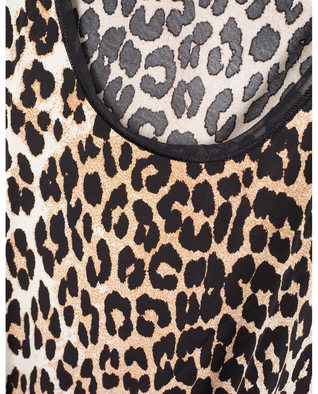 Body sans manches en rayonne imprimée léopard GANNI