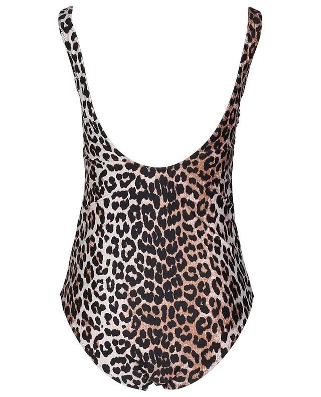 Maillot de bain en Econyl imprimé léopard GANNI