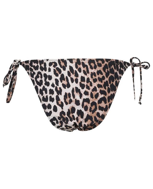 Bas de bikini taille basse imprimé léopard GANNI