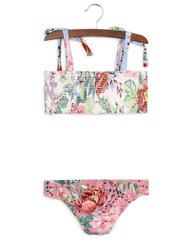 Bikini bandeau smocké imprimé fleurs Bellitude ZIMMERMANN