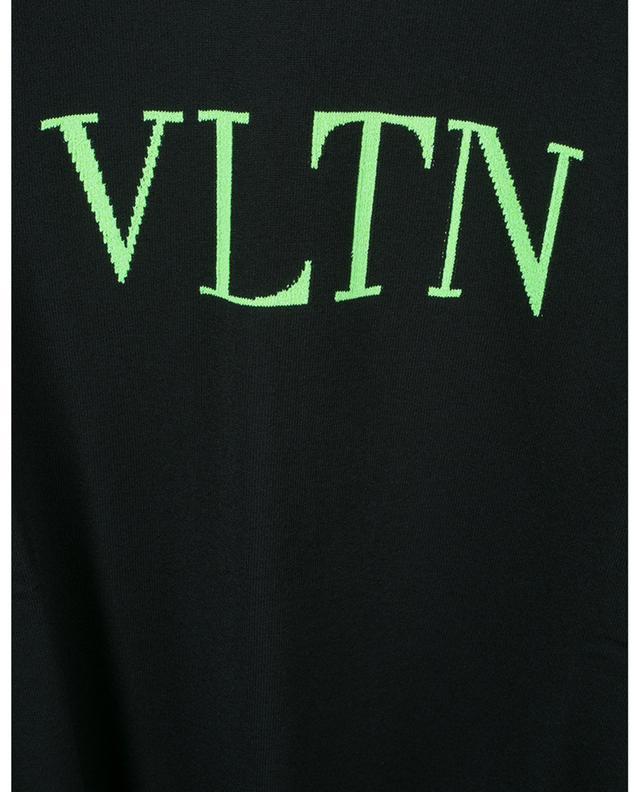 Pull fin à col rond VLTN neon intarsia VALENTINO