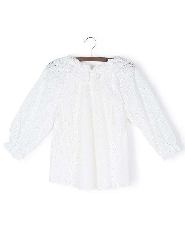 Blouse ornée de broderies anglaises Bellitude Gather Neck Smock ZIMMERMANN
