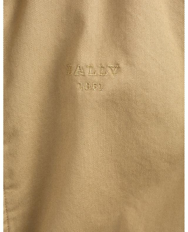 Blouson en gabardine détail cuir Bally 1851 BALLY