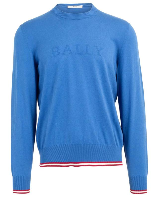 Pull fin en coton détail logo Bally Stripe BALLY
