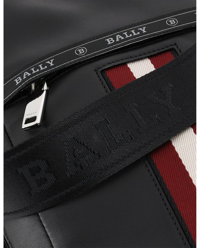 Sacoche portée croisée en cuir détail rayure Hari BALLY