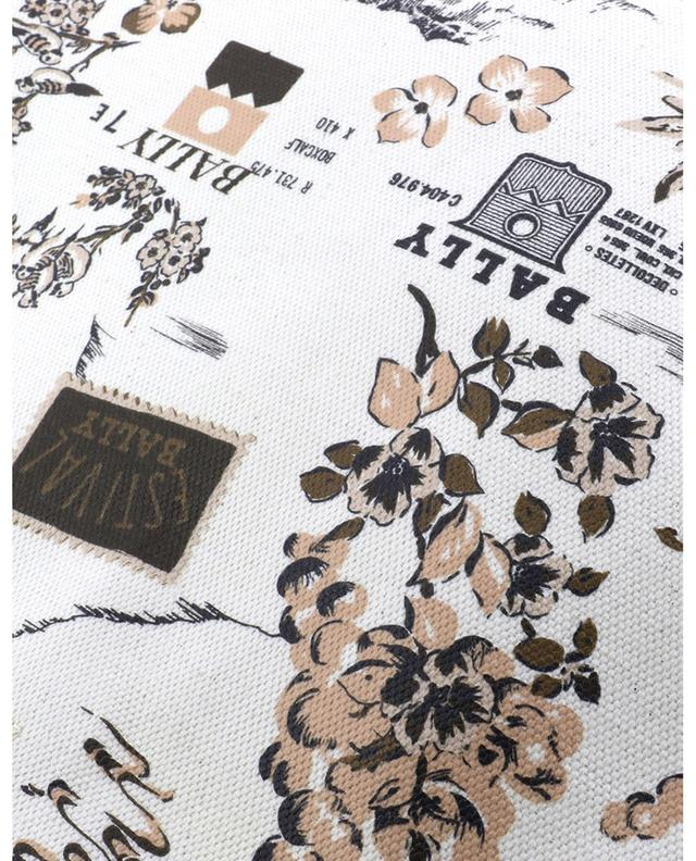 Shopper aus beschichtetem Stoff mit Alpenprint Rast BALLY