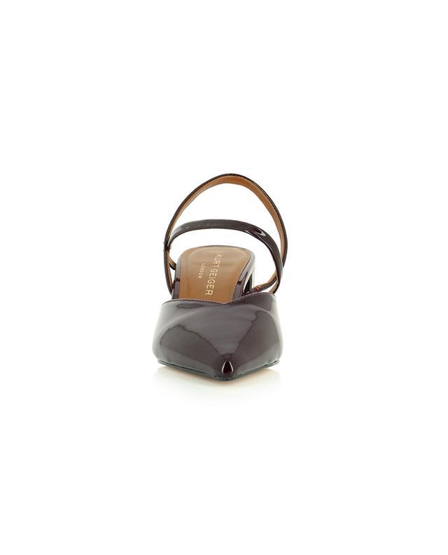 Escarpins à brides et talon carré en cuir verni Burlington Sling KURT GEIGER LONDON