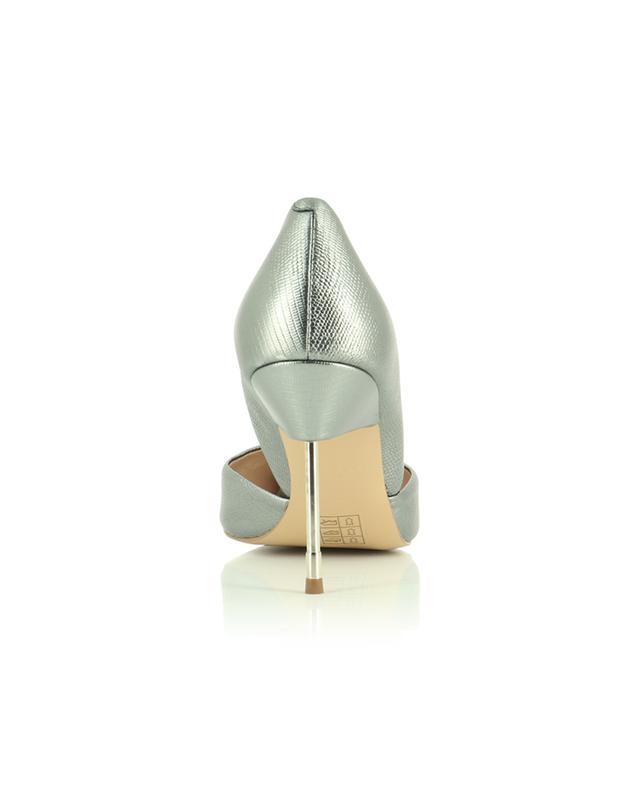 Escarpins en cuir métallisé texturé lézard Bond 90 KURT GEIGER LONDON