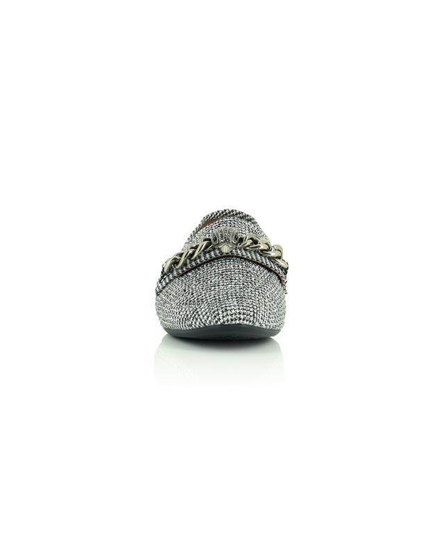 Mocassins en tissu pied-de-poule avec cristaux Chelsea KURT GEIGER LONDON