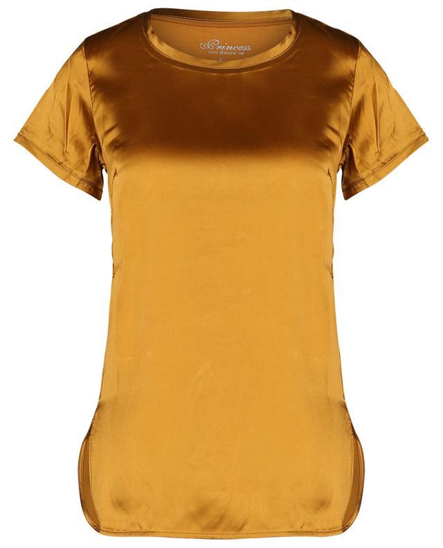 T-shirt en satin de soie et jersey PRINCESS