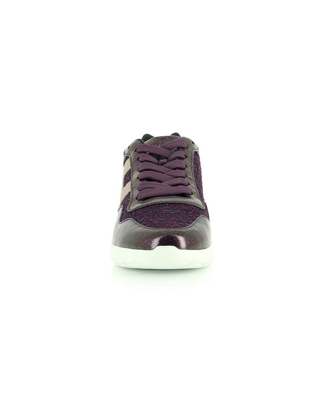 Baskets basses à lacets en tweed et cuir verni pailletté Interactive3 HOGAN