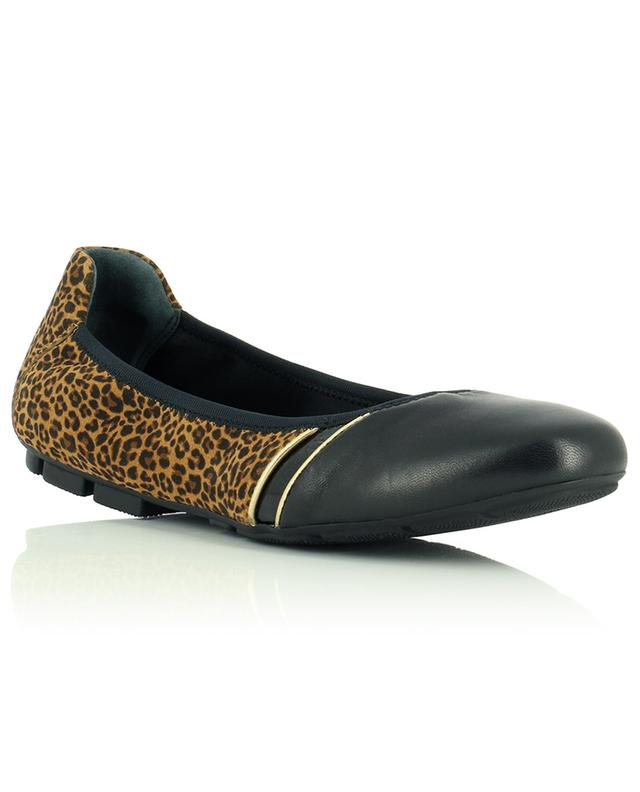 Ballerines en daim léopard et cuir lisse H511 HOGAN