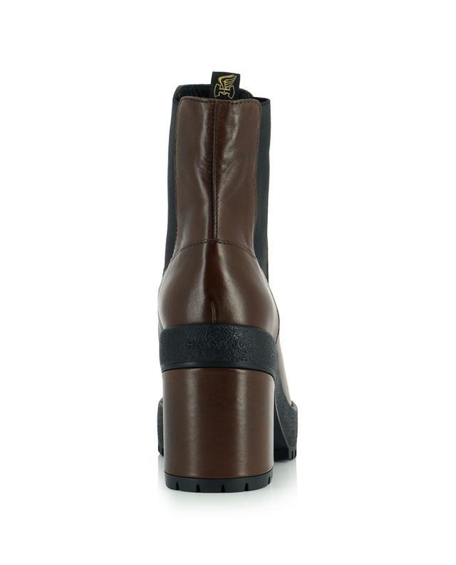 Chelsea-Stiefeletten aus Leder mit Plateausohle und Blockabsatz H537 HOGAN