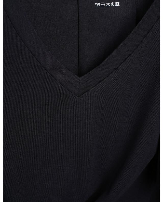 T-shirt à manches longues et col V Extrafine Superwashed MAJESTIC FILATURES