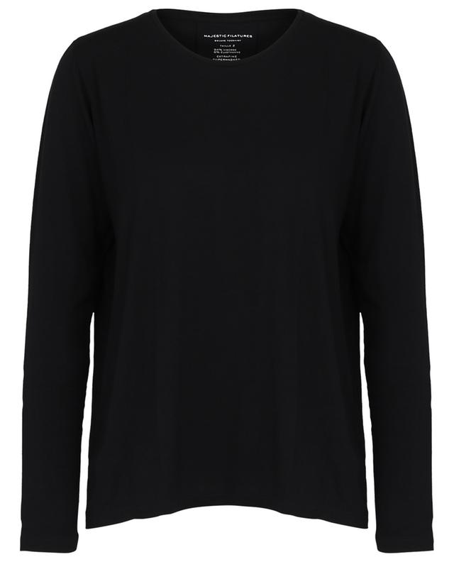 T-shirt à manches longues et col rond Extrafine Superwashed MAJESTIC FILATURES
