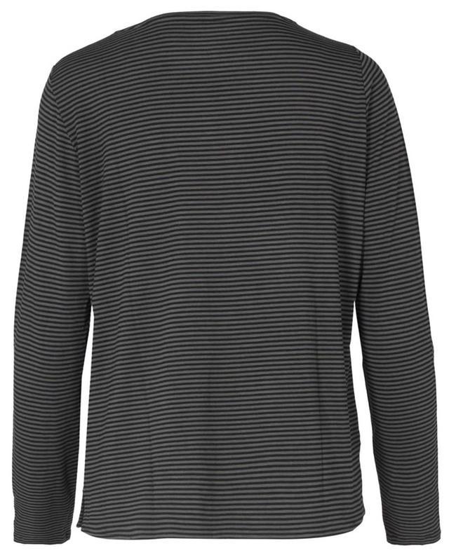 T-shirt à manches longues en viscose mélangée MAJESTIC FILATURES