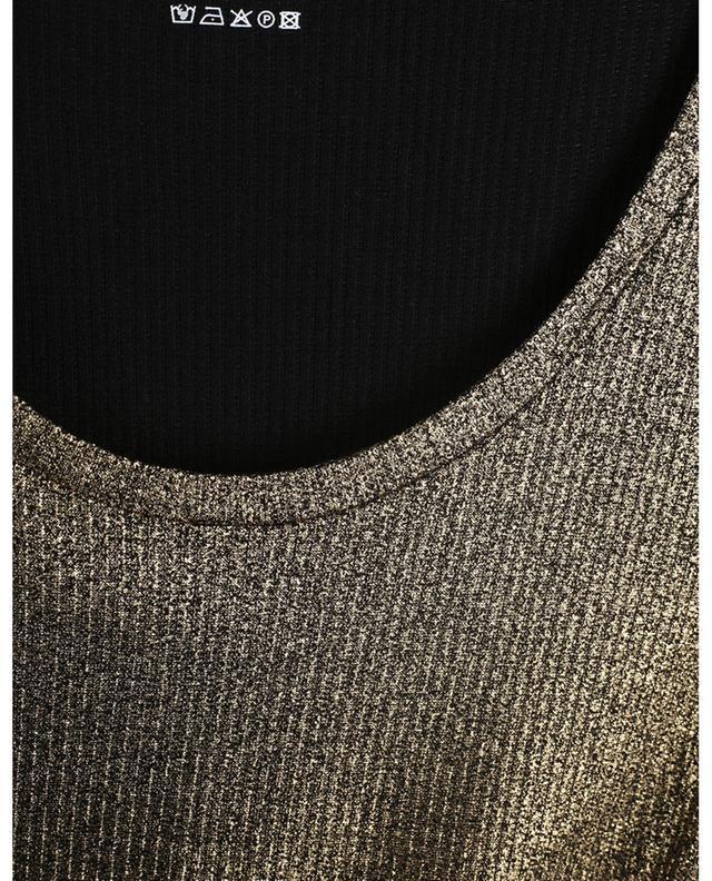 T-shirt côtelé en jersey lamé Extrafine Superwashed MAJESTIC FILATURES