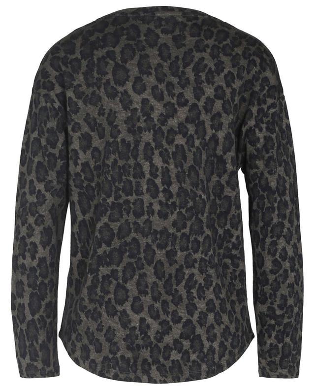 Langarm-T-Shirt mit Leopardenflecken MAJESTIC FILATURES