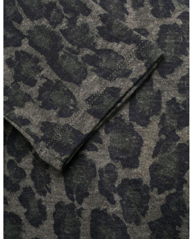 T-shirt à manches longues imprimé léopard MAJESTIC FILATURES