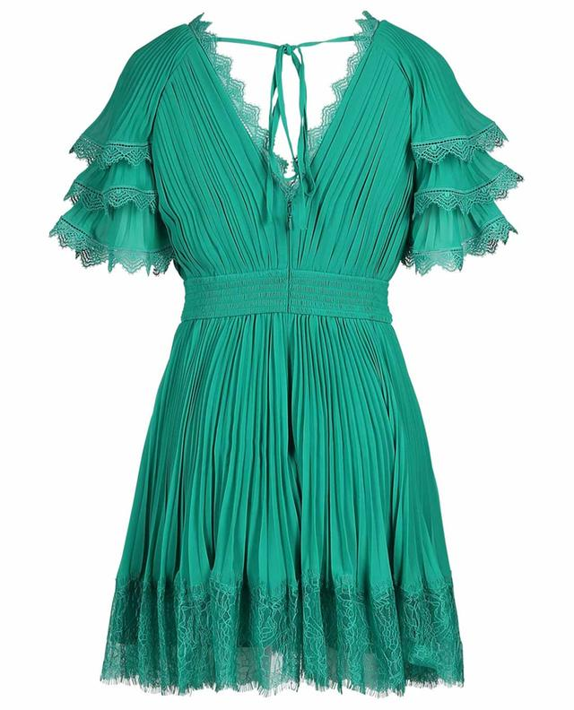 Short pleated dress with lace SELF PORTRAIT